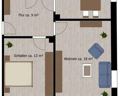 2-Raum-Wohnung mit Blick ins Grüne