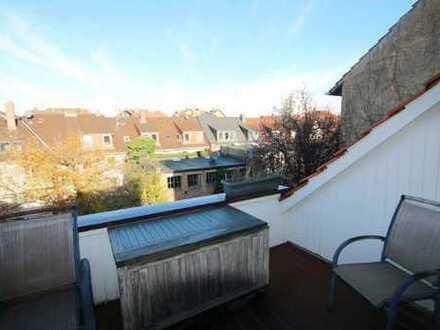 Gepflegte 3 Zimmerdachgeschosswohnung mit Loggia im östlichen Ringgebiet