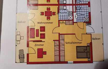 Gepflegte 3-Zimmer-Wohnung mit Balkon und Einbauküche in Karlsbad