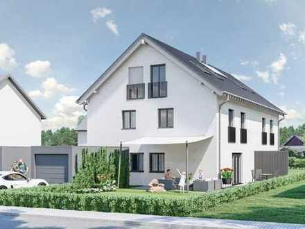 NEUBAU, modernes, hochwertiges Doppelhaus (5-7 Zi.+Hobby) mit Garagen im grünen & ruhigen Lochhausen