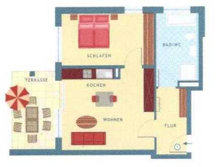 Neuwertige 2-Zimmer-Wohnung mit Balkon und EBK in Wildberg