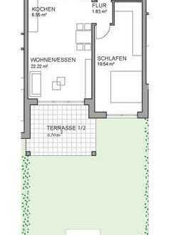 Neubau: Schöne, helle 2-Zimmer Wohnung mit Terrasse und TG-Stellplätzen