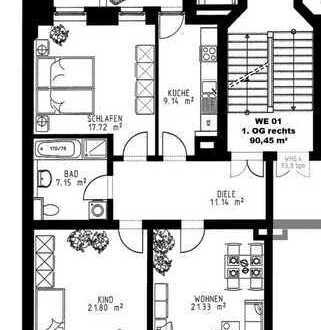 Schöne drei Zimmer Wohnung in Leipzig, Schleußig