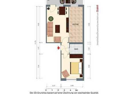 2-Raum-Wohnung mit Fahrstuhl und großer Küche - verfügbar ab 01.02.2020