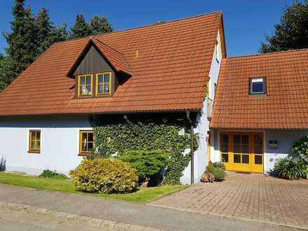 Viel Platz für die große Familie - Homeoffice inklusive: Attraktives Zweifamilienhaus mit Büro