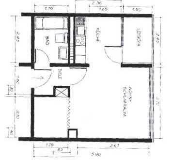 Gepflegte 1-Zimmer-Wohnung mit Balkon in Ratingen