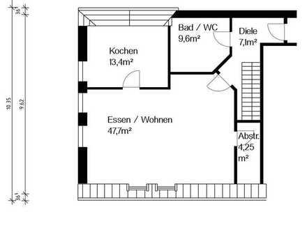 Geräumige, gepflegte 2-Zimmer-Maisonette-Wohnung zur Miete in Schrobenhausen