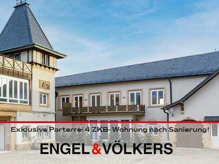 Exklusive Parterre- 4 ZKB- Wohnung nach aufwendiger Sanierung!