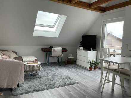 Traumhafte, neuwertige 2-Zimmer-Dachgeschosswohnung mit Balkon in Steinmauern