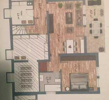 Helle 2,5 Zimmer Terrassen-Wohnung, Neubezug nach Kernsanierung