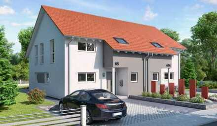 Moderne Doppelhaushälfte mit schönem Grundstück