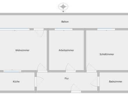 VERMIETET: Gut geschnittene 3-Zimmer-Wohnung in Filet-Lage von Berlin-Mitte