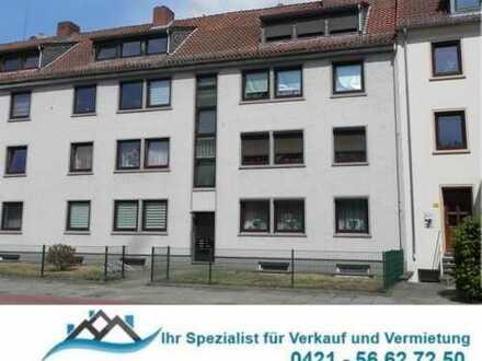 Anlageobjekt; HB-Nähe Waller Friedhof: 6% Rendite! Komplett renovierte 3-Zi. EG-WHG mit Kellerr.