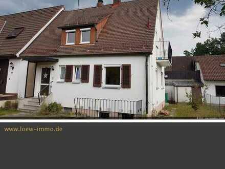Siedler- Doppelhaushälfte mit 505 qm Grund in Rückersdorf