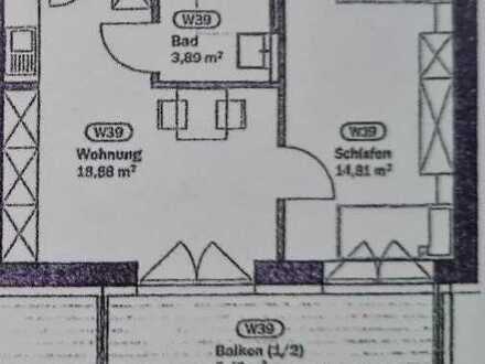 Erstbezug nach Sanierung: 2-Zimmer-Wohnung mit EBK und Balkon in Nabburg