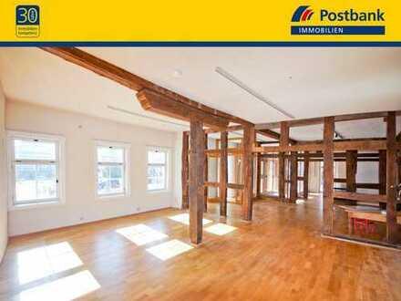DIE NEUE TRUHE FÜR GOLDENE ZEITEN! Gewerbefläche, ca. 150 m², Fachwerkhaus, Denkmal und viel Licht!!
