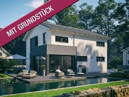 Modernes Erker-Haus mit Charme! Ca. 950m² mit freiem Blick in die Natur