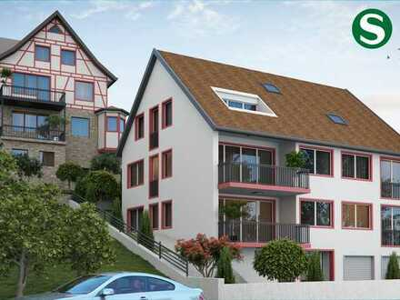 Neubau 3-4 Zimmer-Wohnung: Lichtdurchflutete mit Loggia im DG