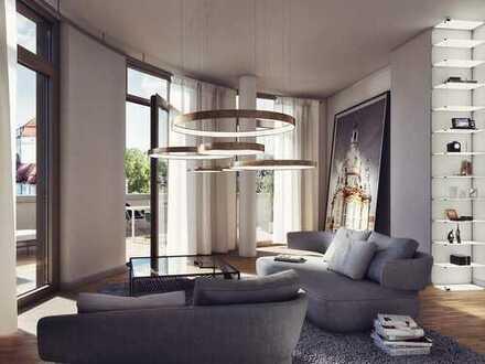 Elegante 3-Zimmer-Penthousewohnung mit Dachterrasse und traumhaften Blick auf Dresdens Altstadt