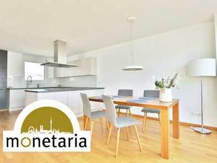 monetaria: Exklusive Penthousewohnung auf drei Etagen mit XXL-Dachterrasse