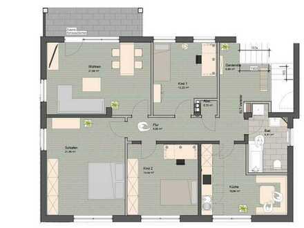 Familienfreundliche Vierzimmerwohnung mit Garten, Erstbezug nach Sanierung
