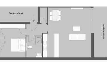 Tolle 2-Zimmer Dachgeschosswohnung mit Spessartblick