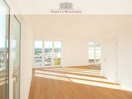 Dachterrassen-Wohnung mit Bergblick. Erstbezug.