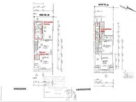 Schönes Haus als Erstbezug nach Kernsanierung mit 5,5 Zimmern in Frankfurt am Main, Nied