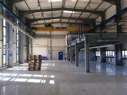 beheizte Lagerhalle 990 m² mit 105 m² Büro in 54552 Darscheid, Autobahnnähe, 20 to Kranbahn