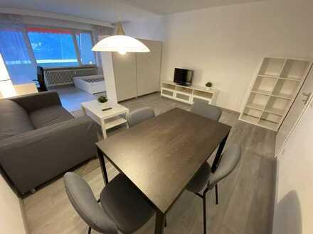 Erstbezug nach Renovierung: Möblierte 1-Zimmer-Wohnung mit Einbauküche und Balkon in Freudenstadt