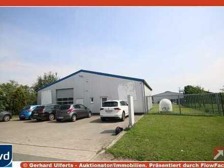 Gewerbehalle mit großer Freiflächen und Büroräumen - vielseitige Nutzungsmöglichkeiten!