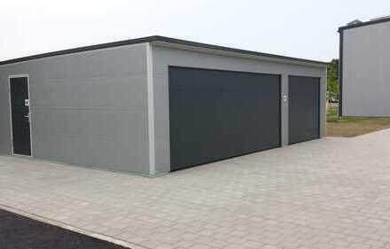 ISO Doppel-Garage mit Pultdach