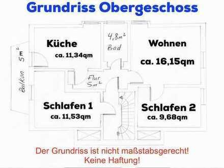 Gepflegte 3-Zimmer-DG-Wohnung mit Balkon und EBK in Wurster Nordseeküste