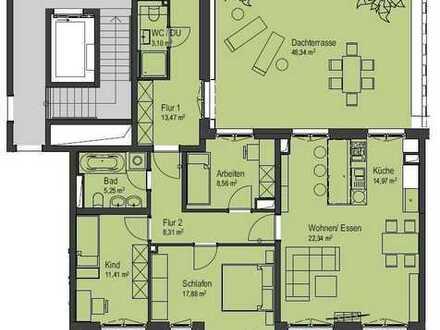 Erstbezug - 4-Raum-Wohnung mit Terrasse