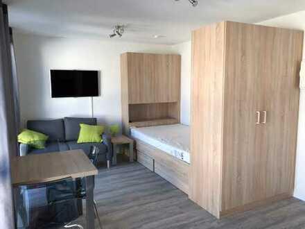 Studentenappartement: Schöne möblierte 1-Zimmer-Wohnung mit Balkon nähe FH