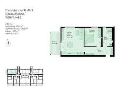 perfekte 2-Zimmer-Wohnung zur Vermietung als auch zur Eigennutzung