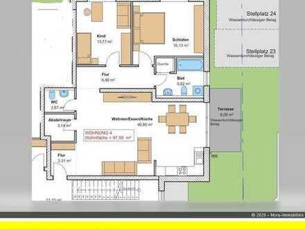 *Projektiert* EG-Wohnung Nr.4 mit Balkon und TG-Stellplatz - Barrierefreie & behindertengerecht *