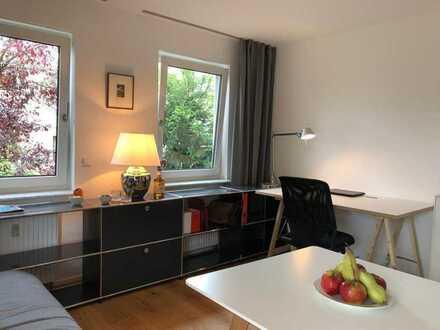 Exklusive 1-Zimmer Wohnung mit Balkon und Blick aufs Ammertal in Top Lage