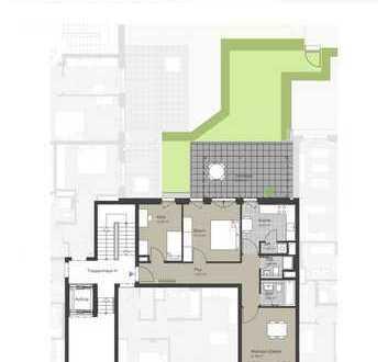 Tolle 3 Zimmer - Wohnung mit Terrasse & Garten, Parkett und 2 hochwertigen Bädern