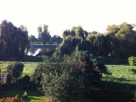 sonniges Wohnen mit Panoramablick auf den Main und mit eigenem Garten