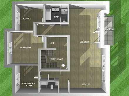 Exklusive, neuwertige 4-Zimmer-Wohnung mit Balkon und EBK in Karlsruhe