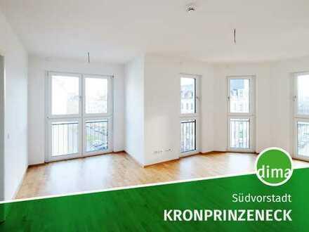 Lichtdurchfluteter Wohntraum mit EBK, Wanne + Dusche, Gäste-WC, Parkett, FBH, Balkon, Lift, TG-SP