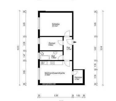 Schöne 3-Zimmer-Wohnung in Nähe Luitpoldpark