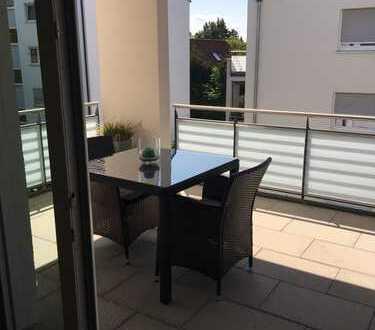 Möblierte 2-Zimmer-Wohnung mit Balkon in Marbach