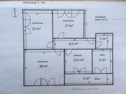 Schöne, großzügige 3 1/2 Zimmer Wohnung in Regensburg (Kreis), Zeitlarn