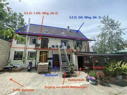 Alt und Neu in Einklang gebracht. 2 Wohnungen (5,5 Zi+3,5 Zi.) in einem 3 Fam. Haus zu verkaufen