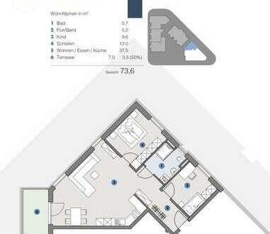 EG; Helle, gemütliche Wohnung - T5 Wohnareal - fortschrittlich, nachhaltig, innovativ