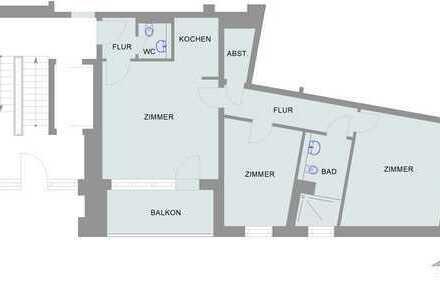 ~~~charmante drei-Zimmer-Wohnung bietet schönen Wohnkomfort direkt an der kleinen Weser~~~