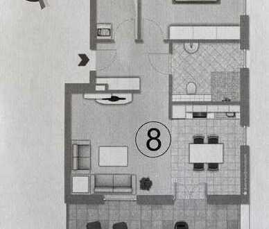 Erstbezug: 2-Zimmer Wohnung mit großer Terrasse, EBK & Stellplatz (Staffelgeschoss)