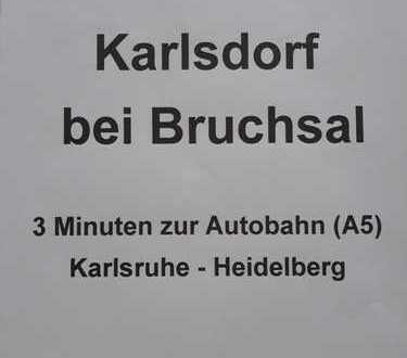 Möblierte sonnige 2-Zi-Whg mit Kamin + Balkon; BAB-Anschl. KA + HD; Karlsdorf bei Bruchsal